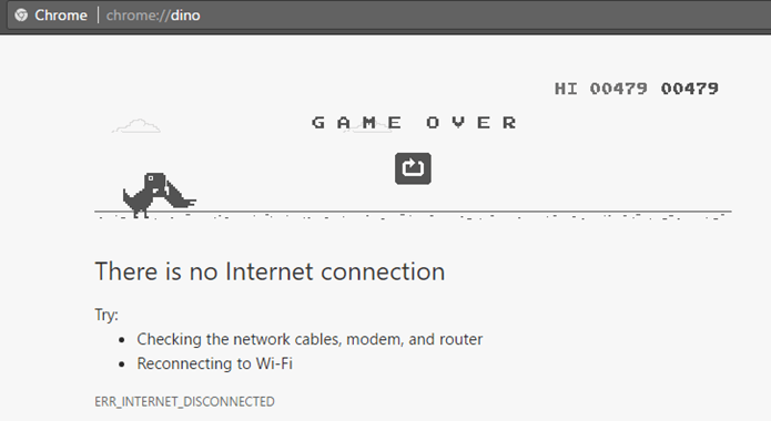 Err Internet Disconnected Error