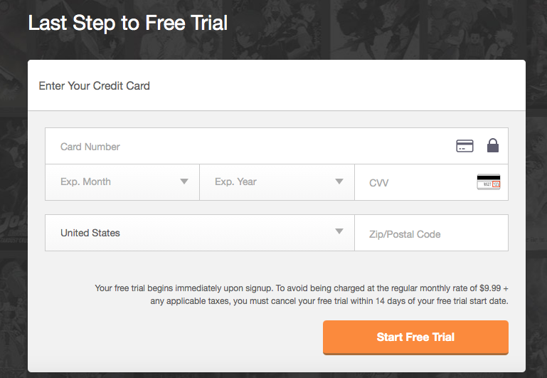 Crunchyroll for free