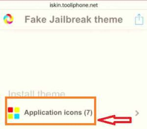 Tap on Application icons