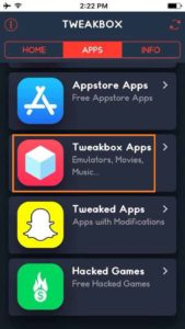 Click on Apps and Tap on Tweaked Apps