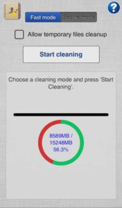 icleaner-start-cleaning