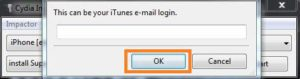 Login to Apple ID to Install Napster iPA