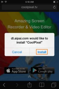 Click-on-Install-CoolPixel-Screen-Recorder