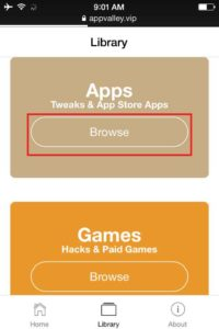 Tap-on-Apps-Section