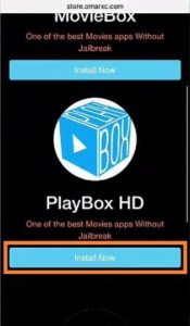 Click on Install PlayBox HD